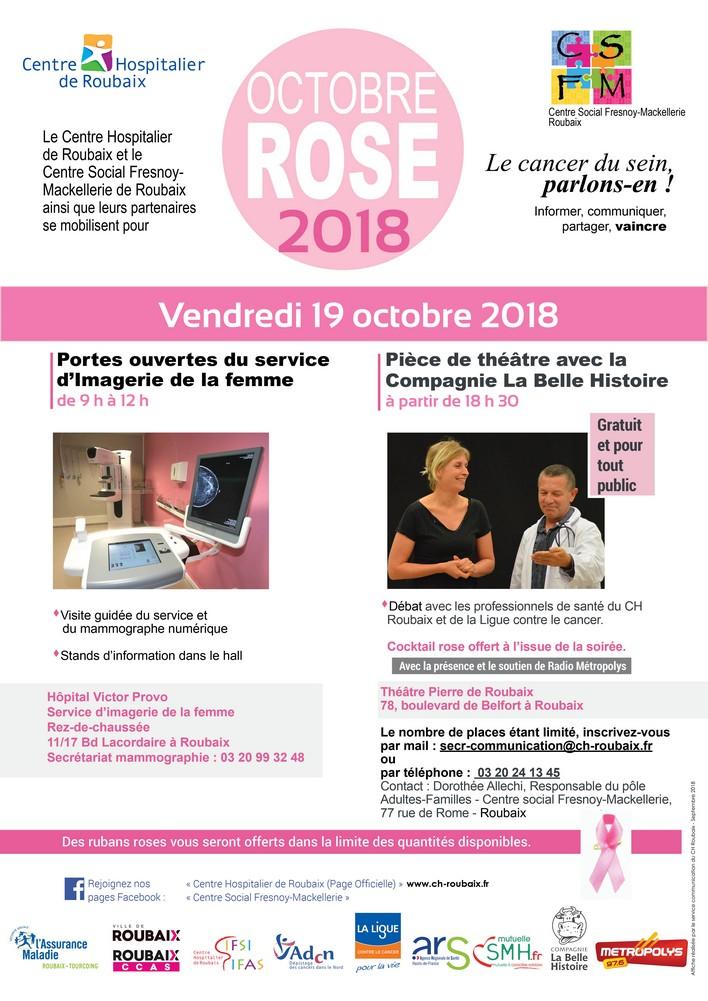 Affiche octobre rose 2018