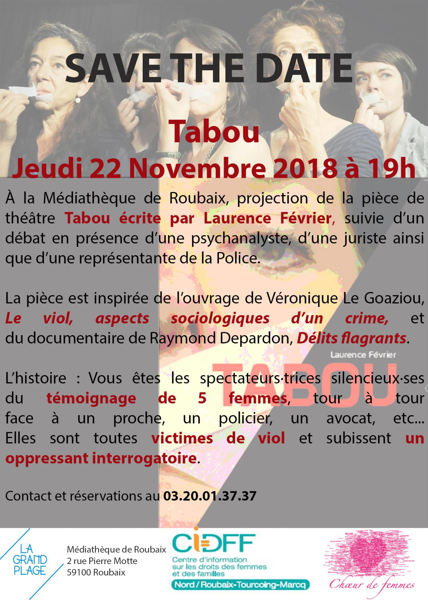 Save the date tabou
